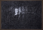 """""""Heads and Chairs""""   charcoal   2002   76x55cm"""