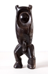 """Burned figure""   1986   Burnt Sycamore   28x8x5cm"