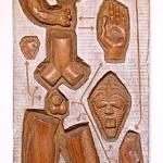 """""""Man Kit"""" 1965  Afzelia 98 x 31 x 9.5cm"""