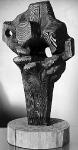 """Study for a Cross II""  1963 Larch (burnt), 68.5 cm high"