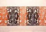 """""""Musician and Dancer""""   (frieze)   1989   84x62cm"""